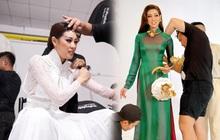 Ảnh hậu trường chưa từng công bố của Khánh Vân: Bật khóc đau đớn, lộ con người thật qua hành trình thi Miss Universe