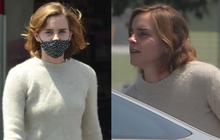Emma Watson để lại tóc ngắn màu nâu y hệt Hermione ngày xưa, nhưng sao nhan sắc tuột dốc quá thế này