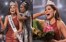 2 thái cực biểu cảm cựu và tân Miss Universe gây bão: Bên cười không khép được miệng, bên căng thẳng trao vương miện 115 tỷ
