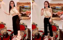 Nữ đại gia ở biệt thự 200 tỷ khoe đôi giày rẻ nhất từng mua, thế nào mà phải leo cả lên ghế để khoe?