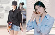 Song Hye Kyo mê diện sơ mi kiểu hờ hững lả lơi: Lên hình thì đẹp nhưng ở ngoài đời có như mơ?