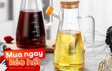 Chị em mau sắm bình đựng dầu ăn đi, chỉ hơn trăm nghìn mà làm căn bếp sang hơn mấy phần