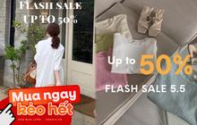 """Loạt shop thời trang rần rần sale 5/5: Giảm đến 50%, chị em nhanh """"chốt đơn"""" đồ hè xinh xẻo giá hời"""