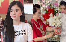 """Clip: Cận cảnh nhan sắc con dâu đại gia Phương Hằng, liệu có """"lấp lánh"""" hơn loạt kim cương mẹ chồng đang đeo?"""