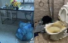 Nam sinh Hà Nội trả phòng trọ đầy rác thải, ngó đến toilet vẫn còn chất bẩn màu vàng mà sốc nặng