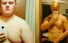 Chàng trai giảm 58 kg, từ béo phì lột xác thành 6 múi vì con