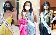 """Netizen thất vọng vì chủ nhà Mỹ tại Miss Universe đi dép bệt lộ diện kém đầu tư, Khánh Vân cùng dàn đối thủ """"chào sân"""" cực căng!"""