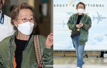 Sao nữ 74 tuổi đã có mặt ở sân bay Hàn Quốc sau chiến thắng lịch sử tại Oscar, phong cách ăn mặc khiến Knet ngỡ ngàng