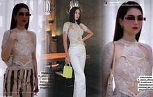 """""""Đụng hàng"""" một mẫu áo: Hoa hậu Tiểu Vy thật gợi cảm còn Ngọc Trinh trông khó hiểu vậy?"""