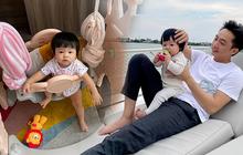 """Đàm Thu Trang giận """"tím người"""" tố Cường Đô La dạy hư ái nữ, Suchin làm gì mà khiến mẹ bỉm căng đét thế?"""