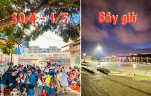"""CHƯA TỪNG THẤY: Quảng trường Đà Lạt vắng không có bóng người vào đêm cuối tuần sau """"cơn bão"""" du lịch 30/4 - 1/5"""