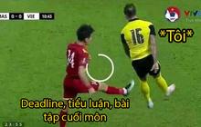 """Loạt ảnh chế đội tuyển Việt Nam nở rộ sau trận gặp Malaysia: Duy Mạnh """"gắt gỏng"""" cũng không hài bằng HLV Park Hang-seo!"""