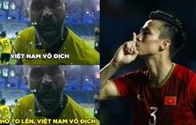 """Việt Nam thắng Malaysia, meme """"cười bể bụng"""" ngập tràn mạng xã hội, biểu cảm của nam cầu thủ đội bạn chiếm spotlight"""