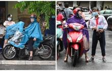 Hình ảnh phụ huynh đội mưa đưa con đi thi: Cứ đến cổng trường những ngày này sẽ hiểu lòng cha mẹ!