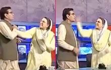 2 chính trị gia vả nhau không trượt phát nào trên sóng truyền hình, MC chỉ biết đứng nhìn trong hoảng hốt