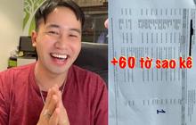 TikToker Trương Quốc Anh công khai sao kê từ thiện dài tận 60 tờ A4, đến 50k phí nuôi thẻ cũng kể ra cho minh bạch