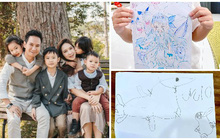 """Lý Hải - Minh Hà """"cầu cứu"""" fan trao giải vẽ tranh tại gia cho các con: Cậu cả vẫn luôn đỉnh nhưng trùm cuối mới cạn lời!"""