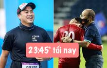 """Nửa đêm mới đá, sáng sớm đã thấy con trai tỷ phú, MC VTV """"lót dép"""" countdown trận Việt Nam gặp UAE rồi!"""