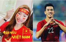 """Bồ cũ xinh đẹp mạnh dạn dự đoán tỷ số trận Việt Nam - UAE và gửi """"tim"""" cổ vũ, liệu Tiến Linh có ghi bàn?"""