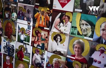 Bức tranh tường mang kỷ niệm đau thương về những nạn nhân COVID-19