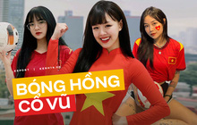 """Nhiều bóng hồng làng streamer """"nhuộm đỏ"""" mạng xã hội, check-in cổ vũ đội tuyển Việt Nam"""