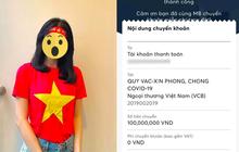 Nữ diễn viên hứa tặng quỹ vaccine 20 triệu/1 bàn thắng của tuyển Việt Nam, cuối cùng chuyển nóng con số khiến cả MXH ngỡ ngàng