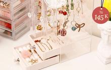 """Nhiều hộp đựng trang sức xịn mịn giá rất """"iu"""", chị em tội gì không mua để decor góc làm đẹp"""