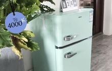 Tủ lạnh mini nội địa Trung style retro siêu xinh đang hot: Bản dupe của tủ Smeg đắt đỏ, giá săn sale chỉ 4 triệu