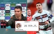 """Sau màn """"cà khịa"""" Coca Cola gây chấn động, Ronaldo hút lượng follow khủng, tự phá luôn kỷ lục của chính mình trên Instagram"""