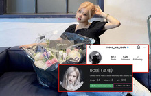 Không chỉ cán mốc 42 triệu lượt theo dõi trên Instagram, Rosé còn là thành viên đầu tiên của BLACKPINK đạt thành tích khủng này!
