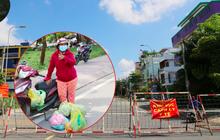 """Quận Bình Tân trong ngày đầu phong tỏa 3 khu phố: """"Cô ở ngoài này phải đi chợ cho mấy chục đứa trong kia, tụi nó không ra ngoài được"""""""