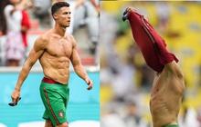 Ronaldo cởi trần khoe body như tượng tạc sau khi đội nhà thua tan tác trước Đức nhưng vậy thì chiếc áo của CR7 đã ở đâu?