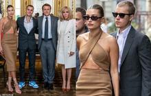Tranh cãi Justin Bieber diện vest đi sneaker và Hailey hở bạo đến gặp Tổng thống Pháp, lí do hẹn gặp còn gây bức xúc hơn?