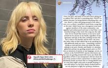 """Billie Eilish lên tiếng sau """"phốt"""" chế giễu người Châu Á, lượng follower lại tăng mạnh nhưng vẫn bị netizen chỉ trích gay gắt!"""