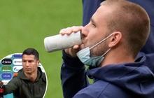 """Tuyển thủ Anh đưa lên miệng uống ừng ực một lon nước cực """"dị"""" trước thềm trận đấu tại Euro, tìm hiểu kỹ mới biết lý do đằng sau"""