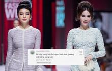 """Fan khen Lily Chen """"sang hơn"""" Ngọc Trinh khiến cô vui quá thả """"bão"""" trái tim luôn á!"""