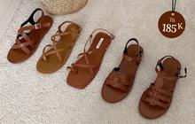 """Sandal xinh mê tơi giá """"hạt dẻ"""" các shop mới về: Diện mát chân mà phối với đồ gì cũng đẹp"""