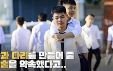 Đài truyền hình Hàn Quốc đưa tin về đôi bạn 10 năm cõng nhau đi học, nhanh chóng lọt topic hot xứ Hàn