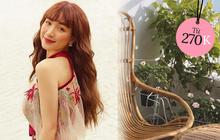 Hòa Minzy khoe góc ban công cực chill với ghế mây, chỉ bạn vài chiếc xinh xắn giống vậy giá từ 270k