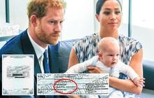 Bị soi ra chi tiết đáng ngờ trên giấy khai sinh của con gái, cặp đôi Harry - Meghan bất ngờ nhận về hàng loạt gạch đá từ dư luận