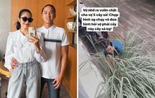 """Hình ảnh đại gia Louis Nguyễn vào vườn nhổ sả cho vợ: Hà Tăng tủm tỉm đăng đàn khoe, """"lụi tim"""" vì một hành động dễ thương này!"""