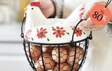 """Đến mấy cái đồ đựng trứng giờ cũng xinh quá, tậu về thì gian bếp trông """"iu"""" hẳn"""