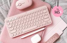 """Nhìn mấy """"em"""" bàn phím bluetooth màu pastel này mà tan chảy, toàn loại gõ siêu thích mà giá cực """"mềm"""""""