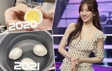 Hari Won bị netizen bóc chi tiết khó hiểu: 1 năm trước làm clip dạy luộc trứng thành thục, nay bỗng vụng về 47 phút chưa xong?