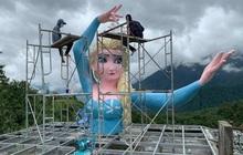 """Tượng Nữ hoàng băng giá phiên bản """"đột biến"""" ở Sa Pa chính thức bị tháo dỡ, hy vọng sẽ không còn công trình tương tự xuất hiện nữa!"""