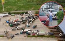 Ảnh: Cửa ngõ Hà Nội ùn tắc trong ngày đầu giãn cách, hàng loạt phương tiện quay đầu vì tài xế không biết thông tin