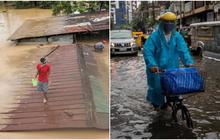 Sau Trung Quốc, đến lượt Philippines hứng chịu bão lũ tấn công: Cả vạn người sơ tán, nước lũ ngập tận nóc nhà