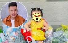 """Lê Dương Bảo Lâm hứng nguyên rổ """"gạch"""" từ netizen vì để con gái ngồi lên thực phẩm chụp ảnh, lời giải thích có hợp lý?"""