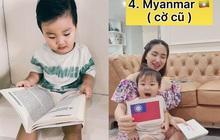 """Clip 2 triệu view đang hot: Quý tử nhà Hoà Minzy chưa đầy 2 tuổi đã thuộc làu 19 quốc kỳ, netizen cũng """"phục sát đất"""""""
