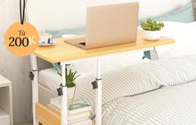 """5 chiếc bàn siêu gọn cho phòng chật: Vừa đẹp vừa dễ tháo lắp, mua về để work from home là """"số dzách"""""""